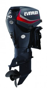 40 HP Evinrude E-TEC - Graphite Engine Profile